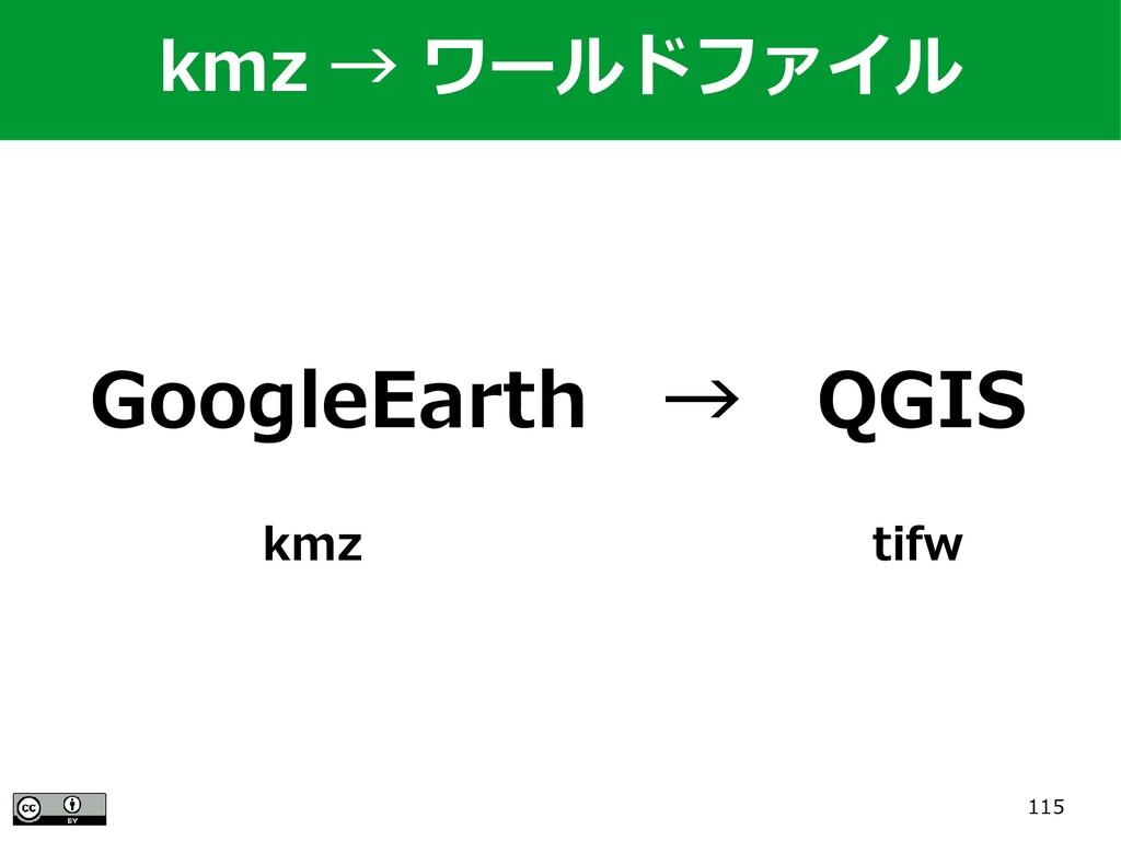115 GoogleEarth → QGIS kmz                 tifw...