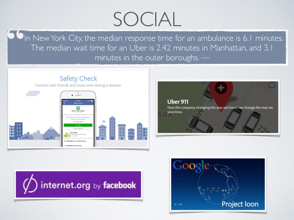 SOCIAL In New York City, the median response ti...