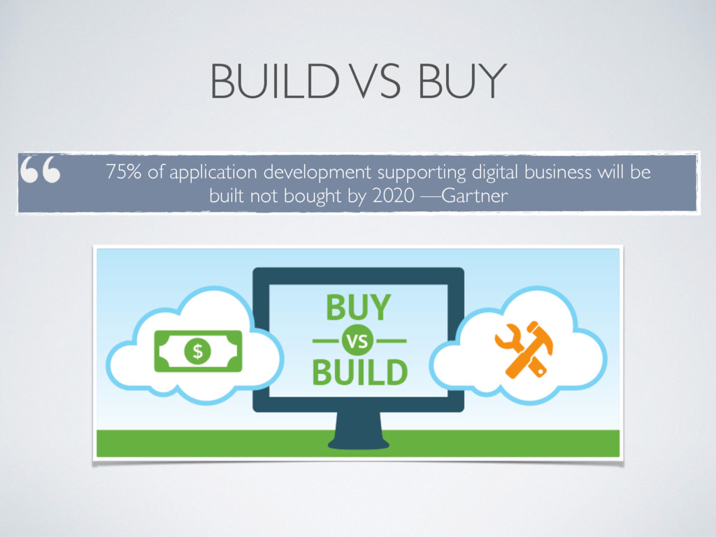 BUILD VS BUY 75% of application development sup...