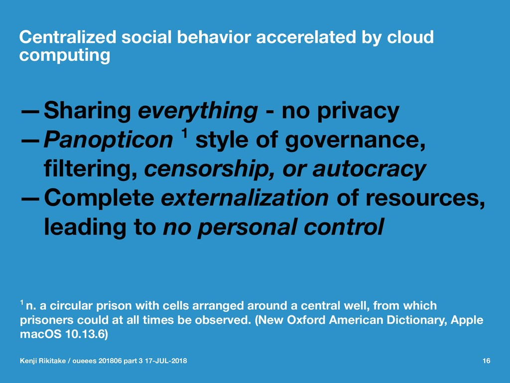 Centralized social behavior accerelated by clou...