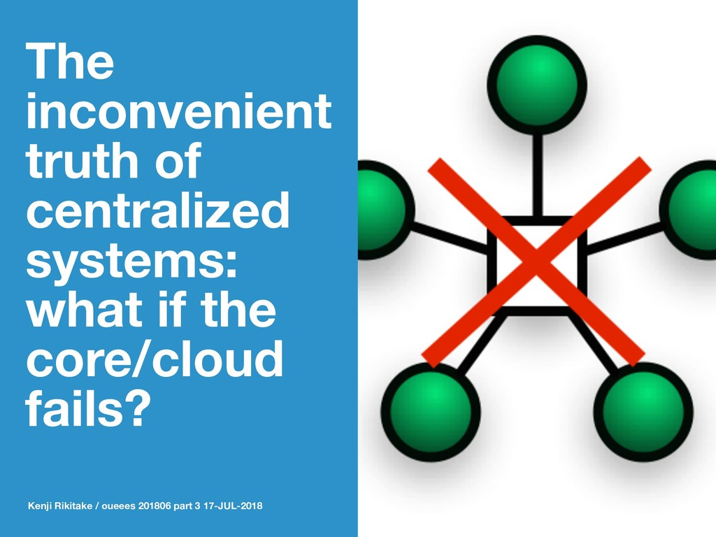 The inconvenient truth of centralized systems: ...