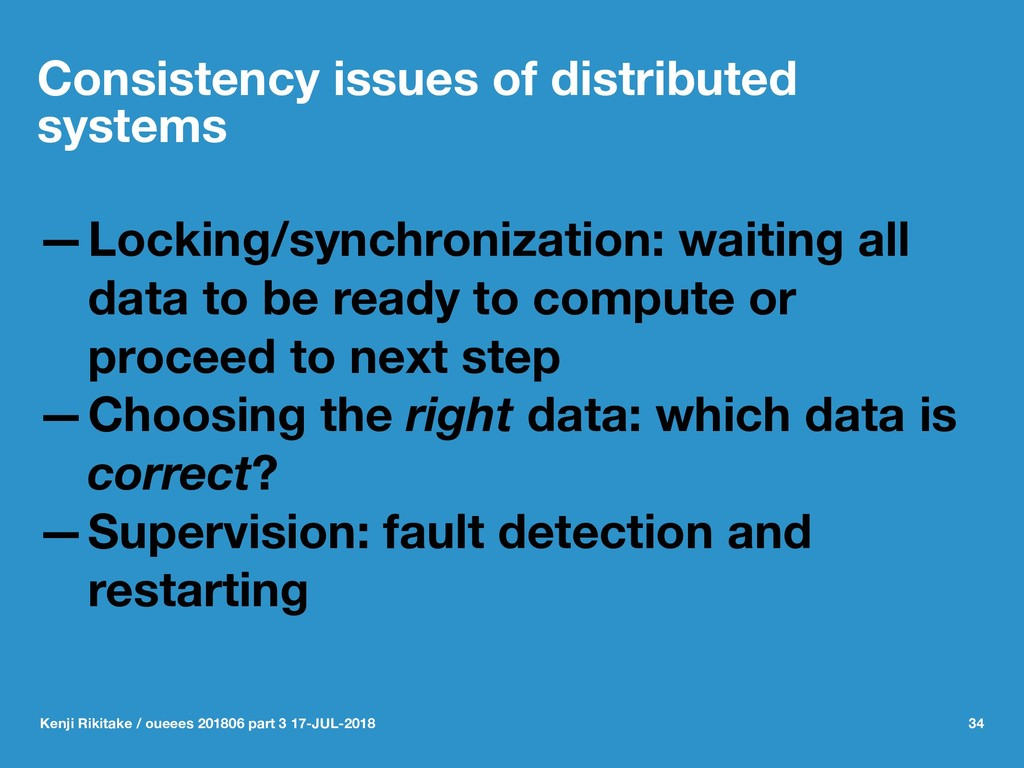 Consistency issues of distributed systems —Lock...