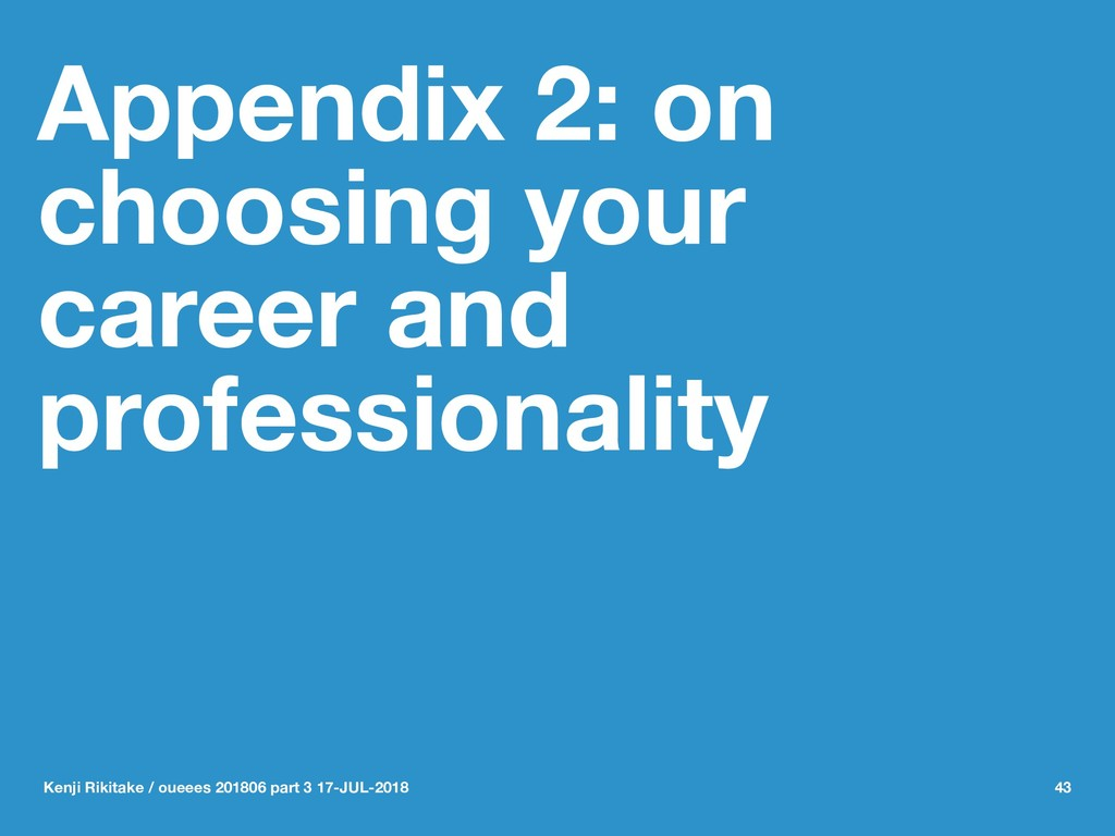 Appendix 2: on choosing your career and profess...