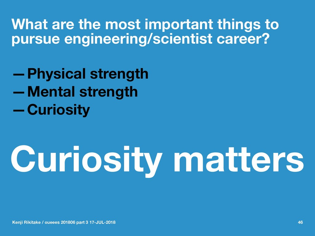 What are the most important things to pursue en...