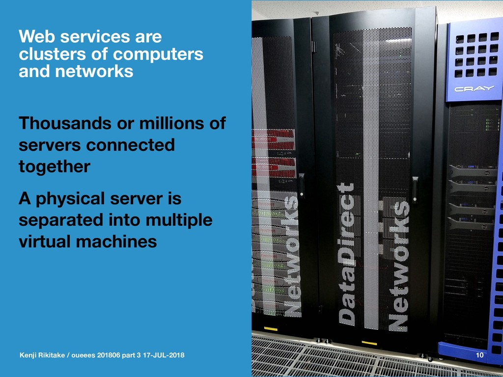 Web services are clusters of computers and netw...