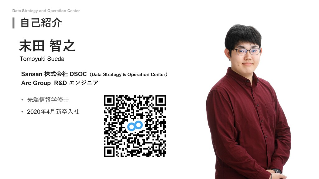 Data Strategy and Operation Center ⾃⼰紹介 • 先端情報学...