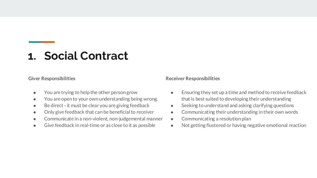 1. Social Contract Giver Responsibilities ● You...