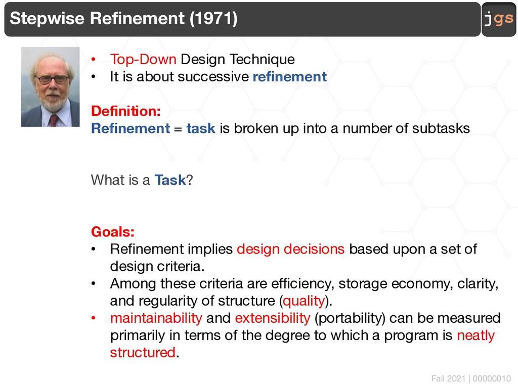 jgs 00000010 Stepwise Refinement (1971) • Top-D...