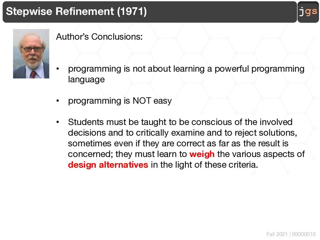 jgs 00000010 Stepwise Refinement (1971) Author'...