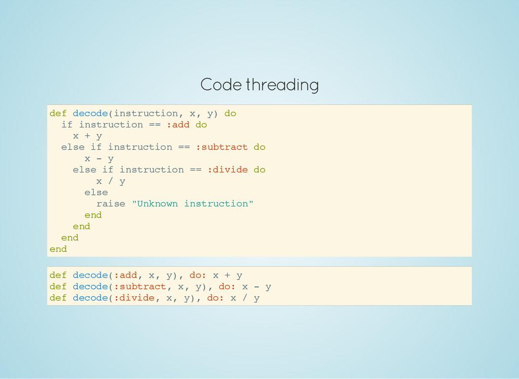 Code threading d e f d e c o d e ( i n s t r u ...
