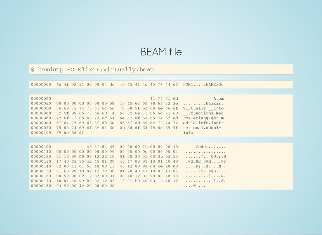 BEAM file $ h e x d u m p - C E l i x i r . V i...