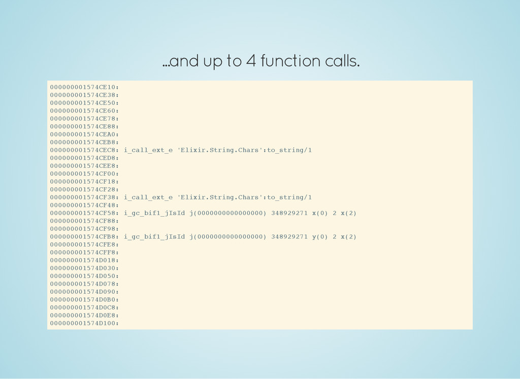...and up to 4 function calls. 0 0 0 0 0 0 0 0 ...