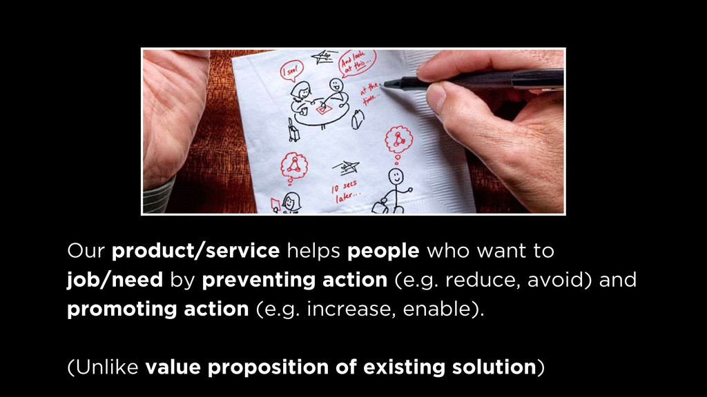 Our product/service helps people who want to j...