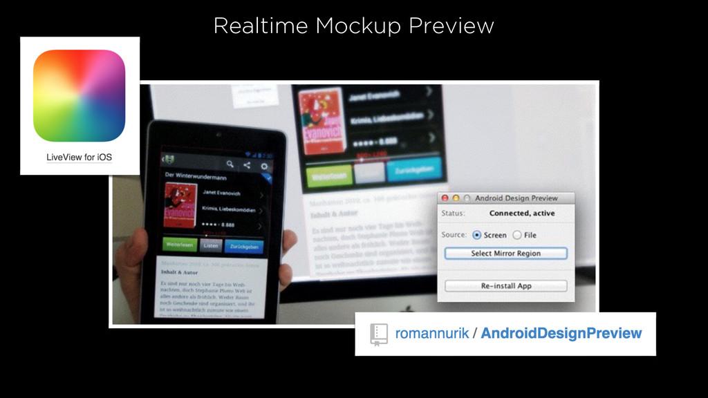 Realtime Mockup Preview