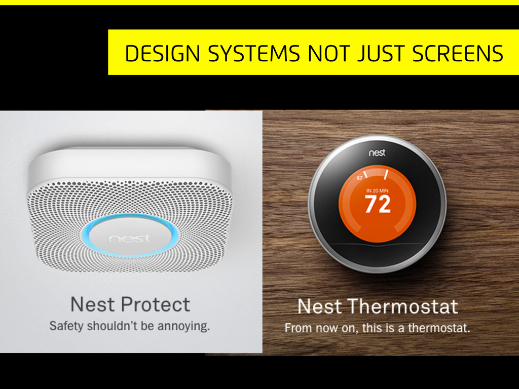 Design systems not just screens