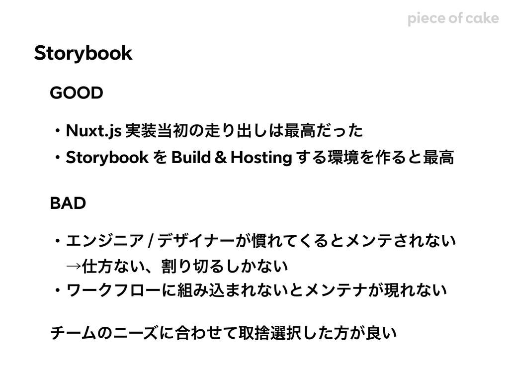 GOOD ɾNuxt.js ࣮ॳͷΓग़͠࠷ߴͩͬͨ ɾStorybook Λ Buil...