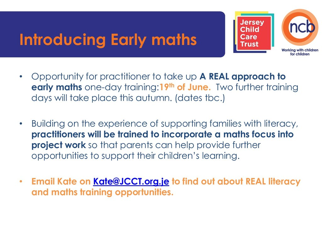 Introducing Early maths • Opportunity for pract...