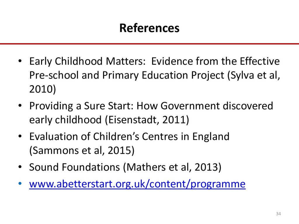 References • Early Childhood Matters: Evidence ...