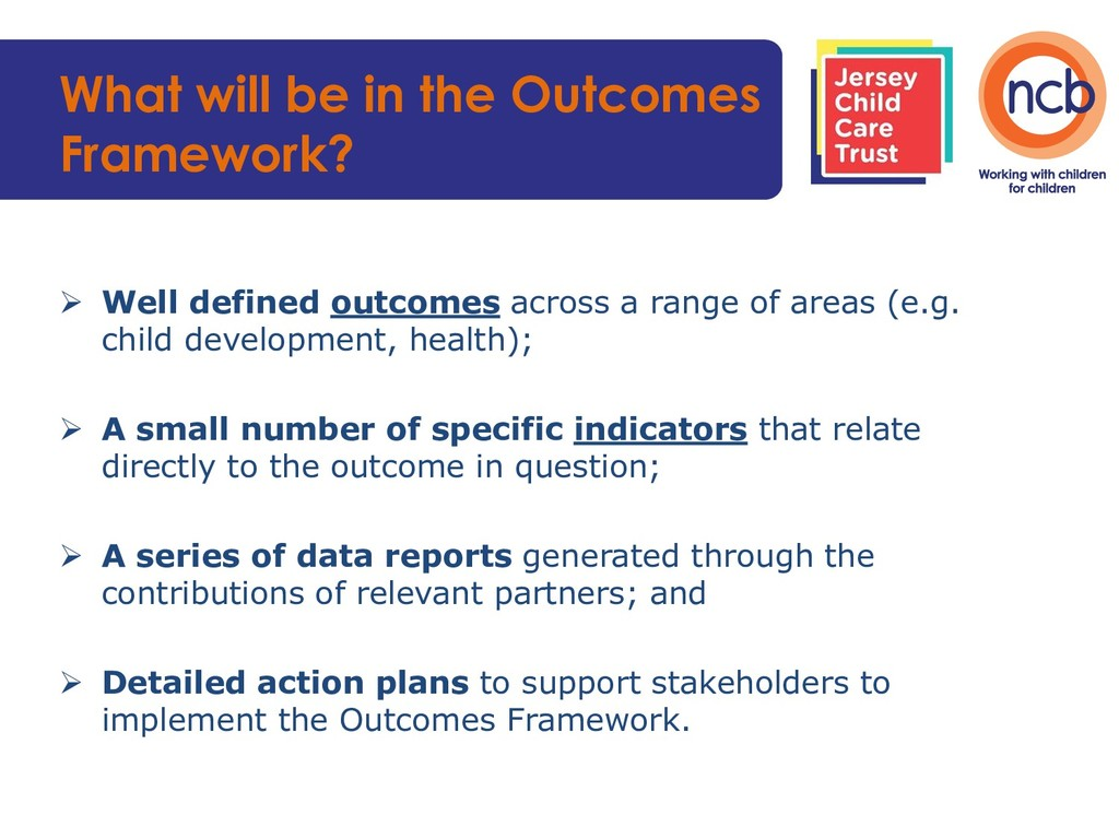 What will be in the Outcomes Framework?  Well ...