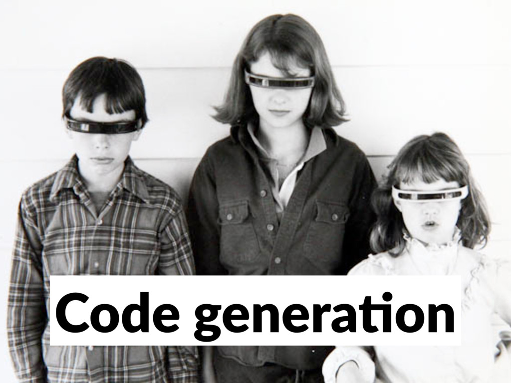 Code genera/on