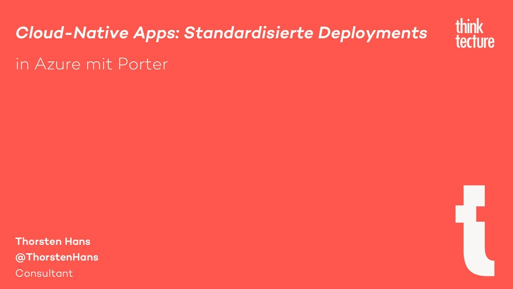 Cloud-Native Apps: Standardisierte Deployments ...