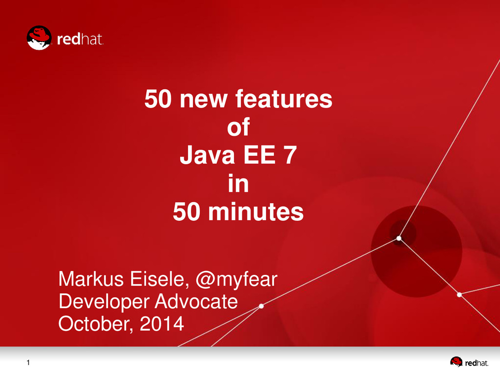 1 50 new features of Java EE 7 in 50 minutes Ma...