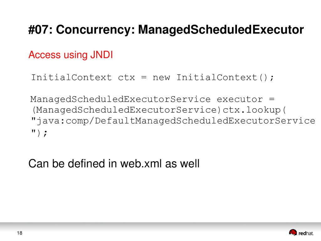 18 #07: Concurrency: ManagedScheduledExecutor I...