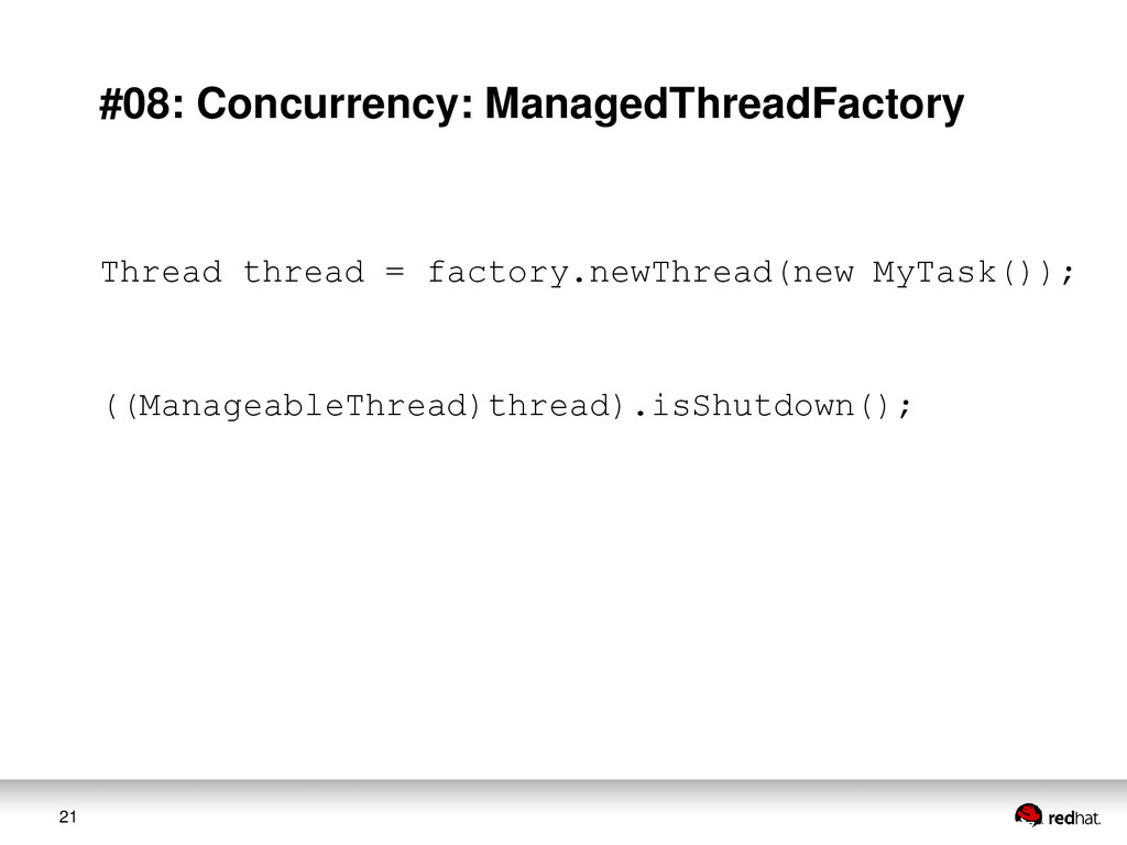 21 #08: Concurrency: ManagedThreadFactory Threa...