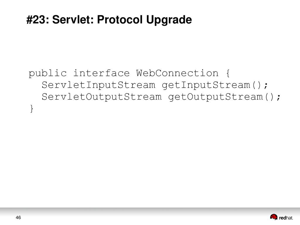 46 #23: Servlet: Protocol Upgrade public interf...