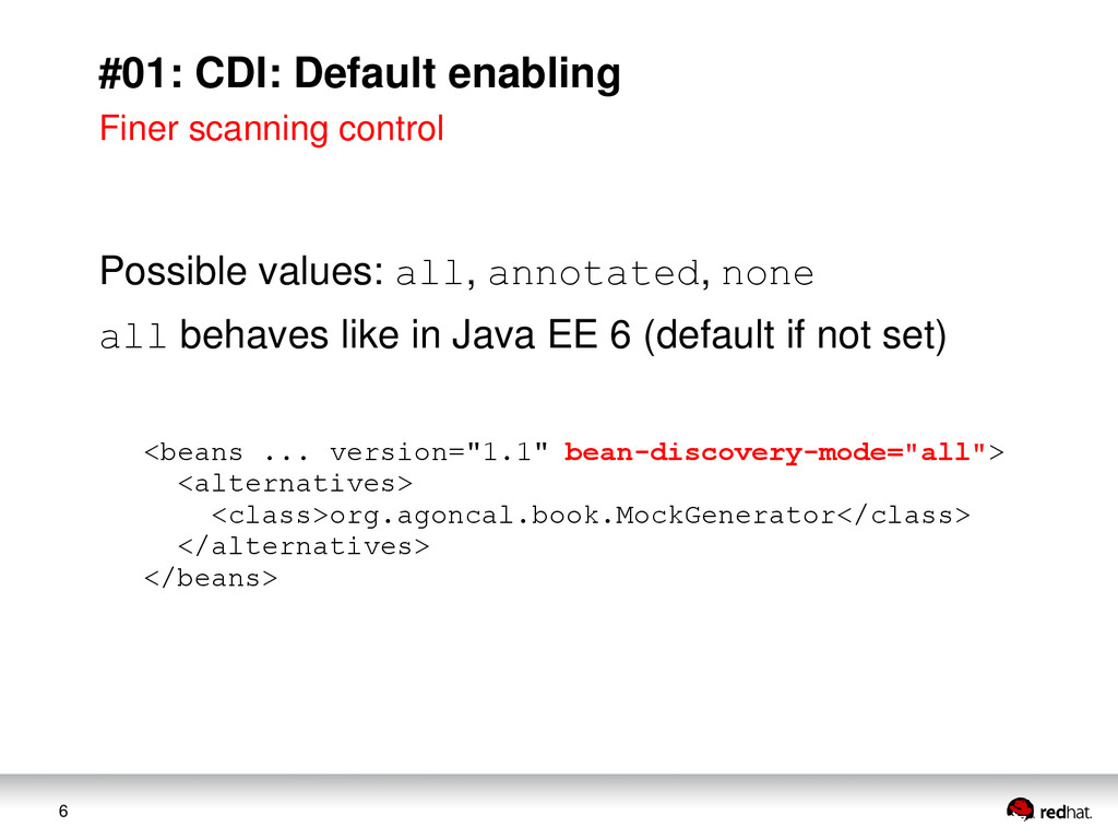 6 #01: CDI: Default enabling Finer scanning con...
