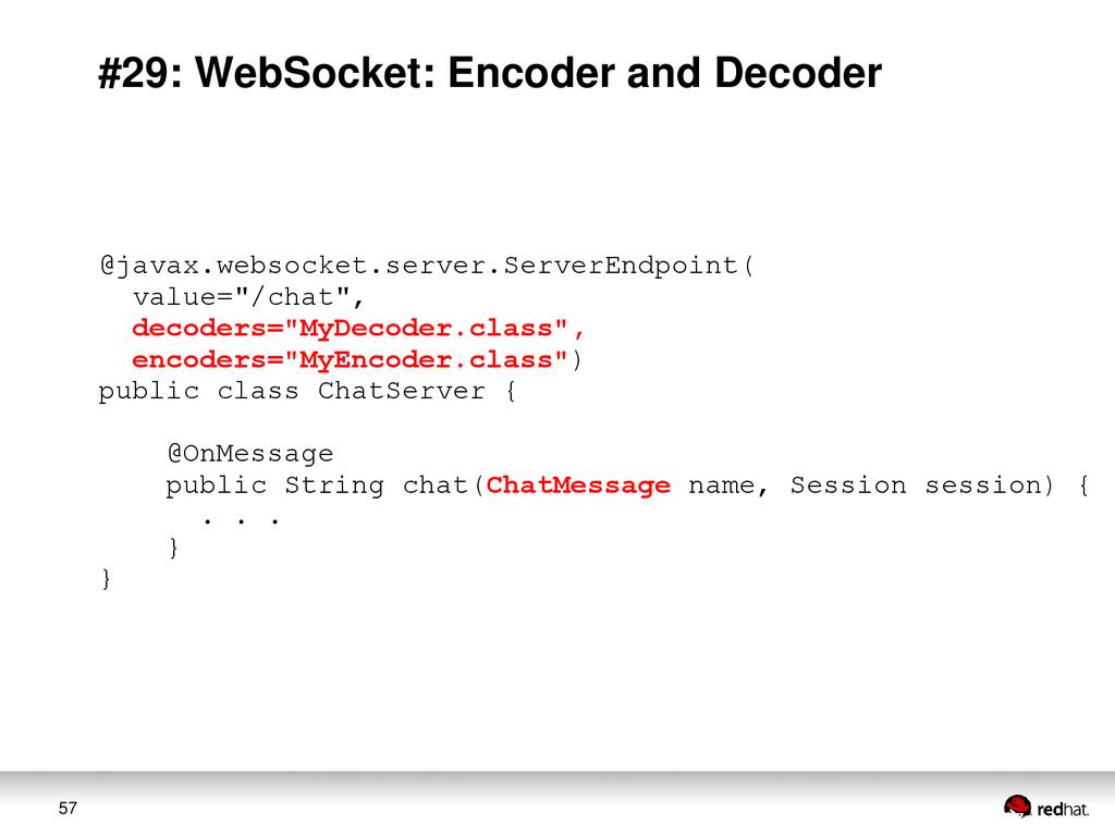 57 #29: WebSocket: Encoder and Decoder @javax.w...