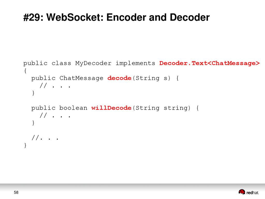 58 #29: WebSocket: Encoder and Decoder public c...