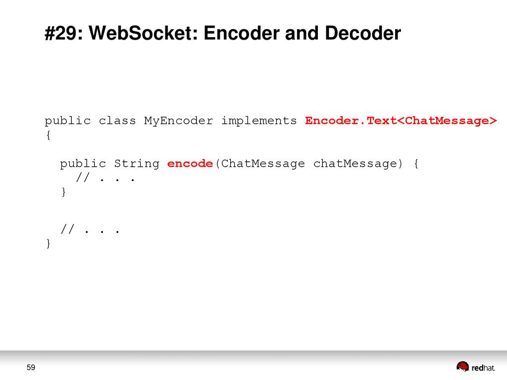 59 #29: WebSocket: Encoder and Decoder public c...