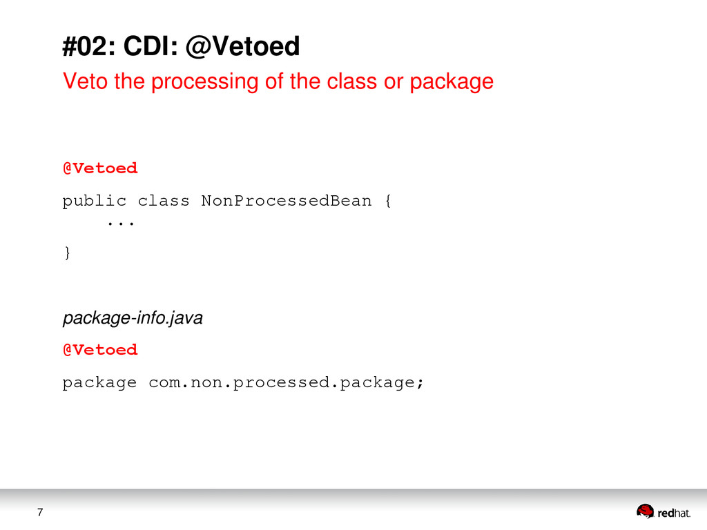 7 #02: CDI: @Vetoed Veto the processing of the ...