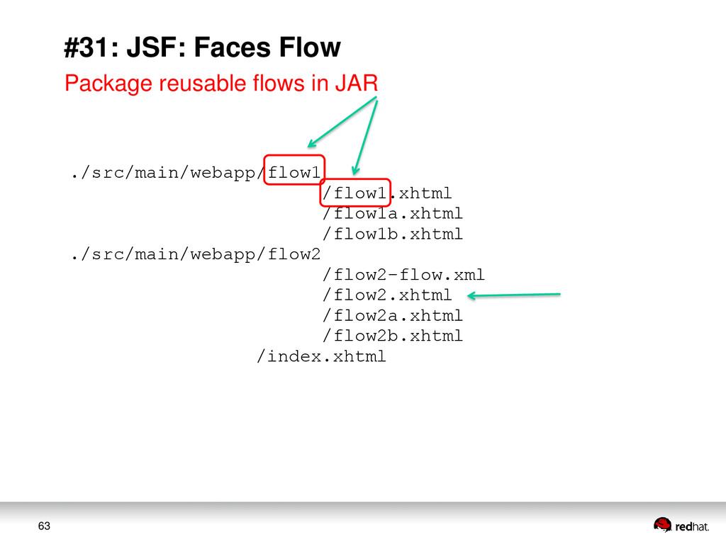 63 #31: JSF: Faces Flow ./src/main/webapp/flow1...