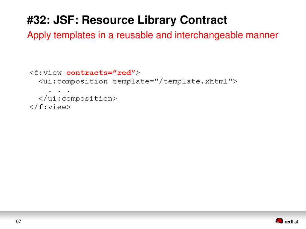 67 #32: JSF: Resource Library Contract <f:view ...
