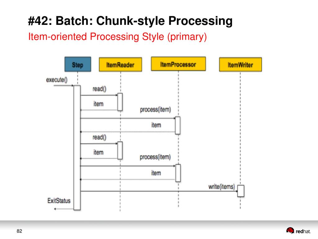 82 #42: Batch: Chunk-style Processing Item-orie...