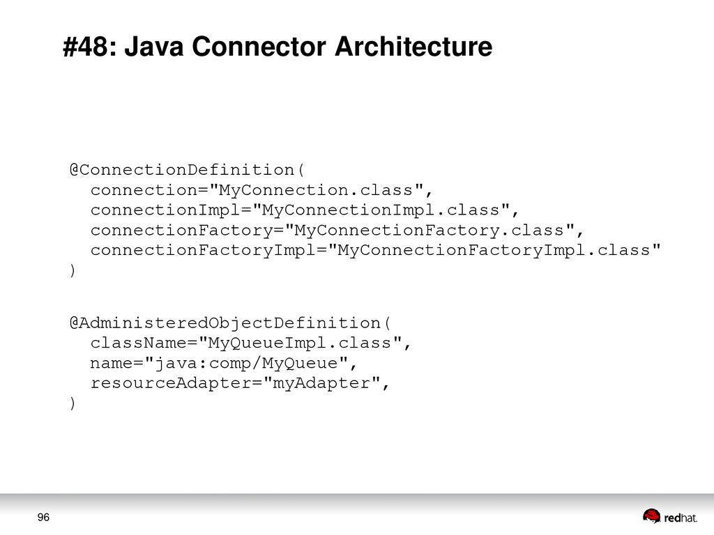 96 #48: Java Connector Architecture @Connection...