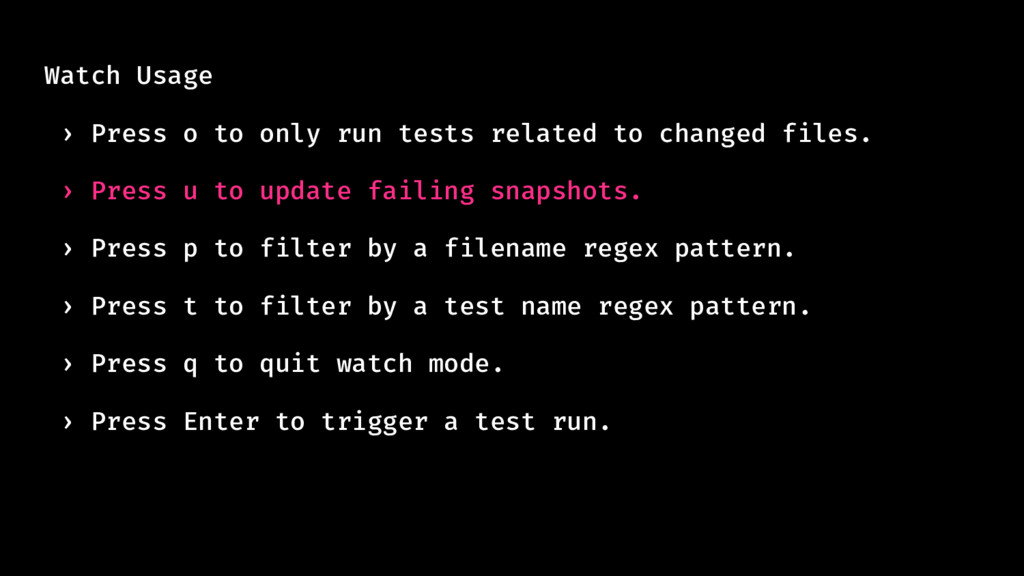 Watch Usage › Press o to only run tests related...