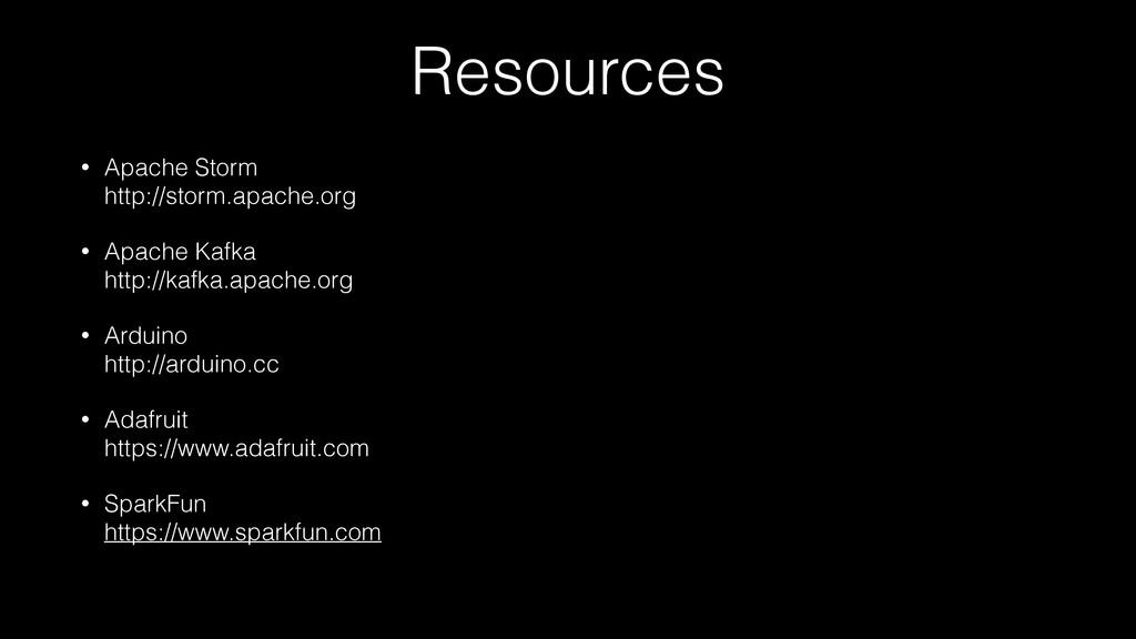 Resources • Apache Storm http://storm.apache.o...
