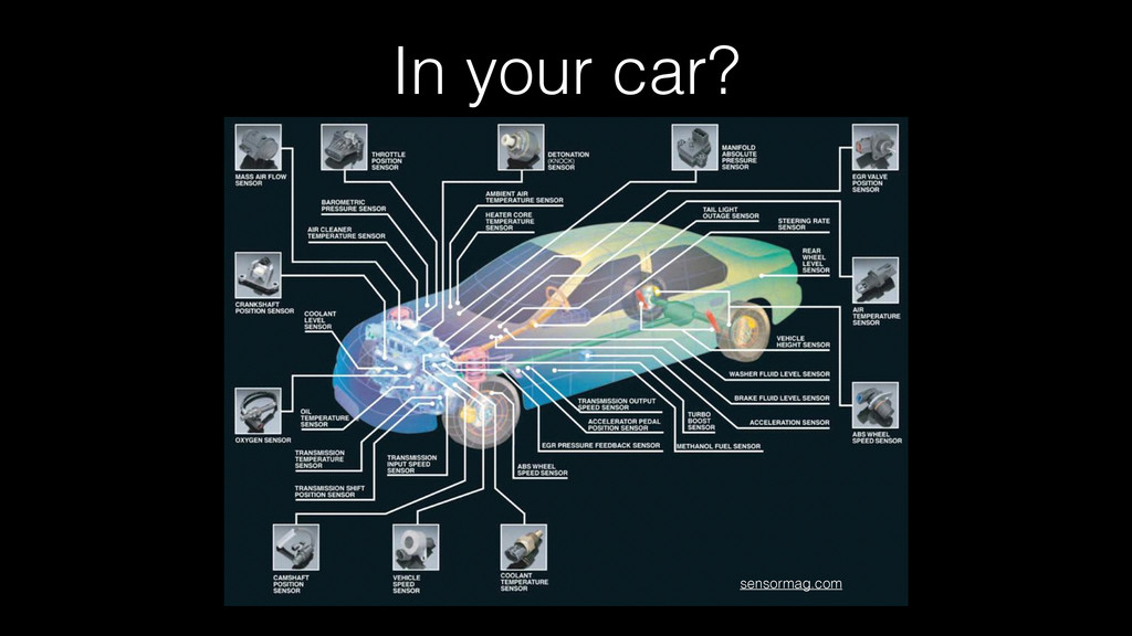 In your car? sensormag.com