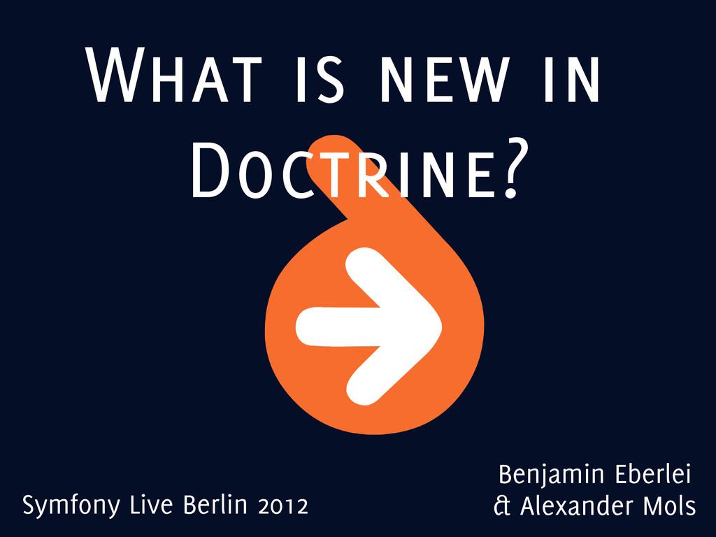 What is new in Doctrine? Benjamin Eberlei & Ale...