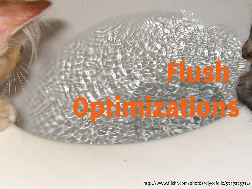 Flush Optimizations http://www.flickr.com/photo...