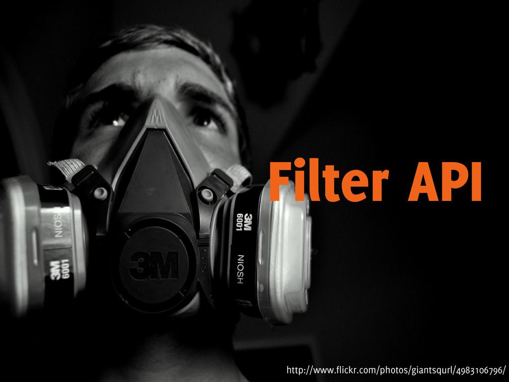 Filter API http://www.flickr.com/photos/giantsq...