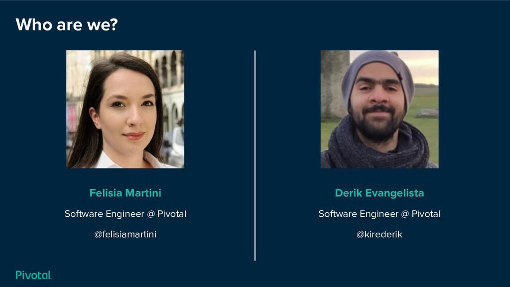 Who are we? Felisia Martini Software Engineer @...