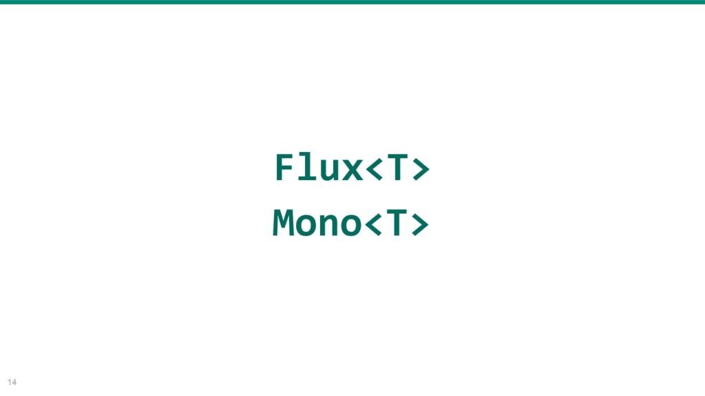 14 Flux<T> Mono<T>
