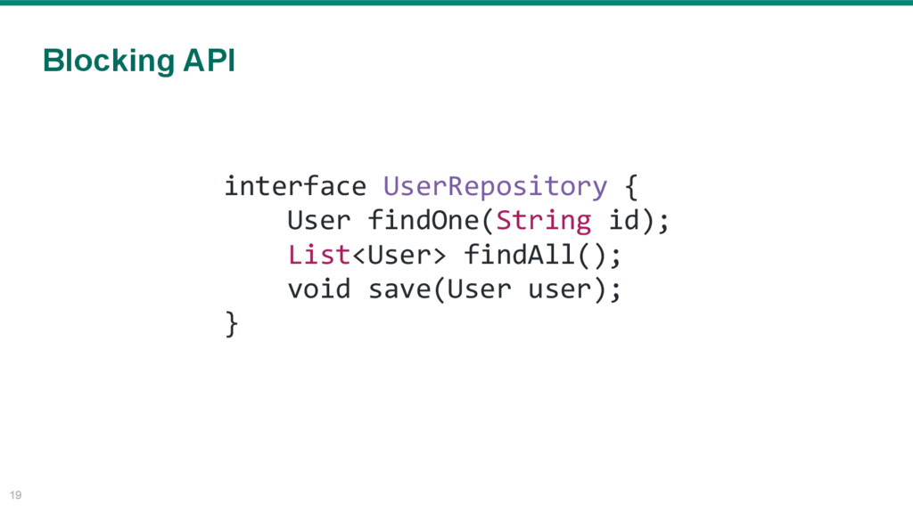 19 interface UserRepository { User findOne(Stri...
