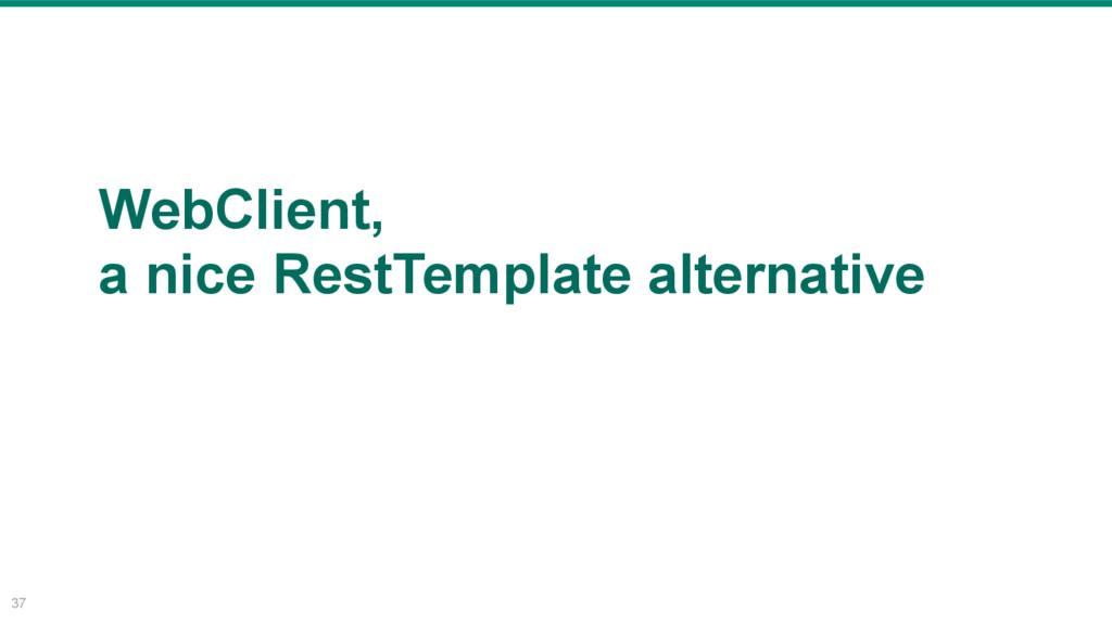 37 WebClient, a nice RestTemplate alternative