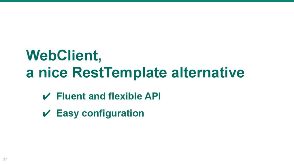 37 WebClient, a nice RestTemplate alternative ✔...