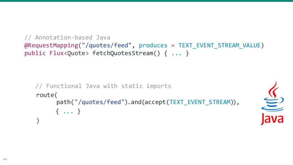 """44 // Annotation-based Java @RequestMapping(""""/q..."""